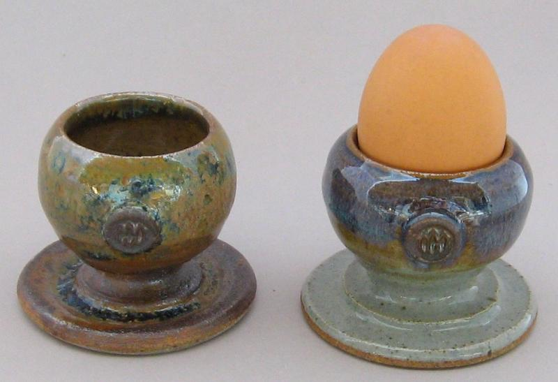 ceramic egg cups pottery egg holders