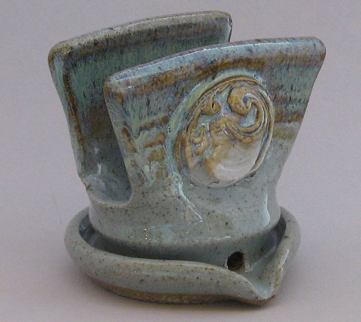 blue and grey glaze stoneware